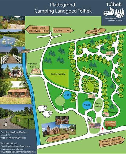 Voorzieningen Minicamping Landgoed Tolhek Anderen Drenthe